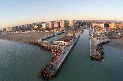Canal du port de Riccione